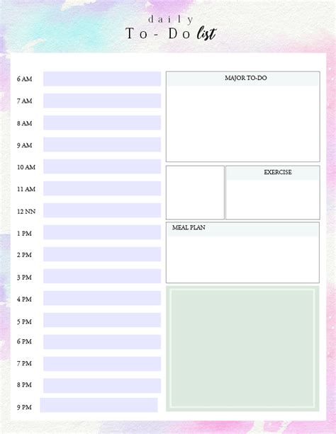Printable Daily To Do List Template To Get Things Done Daily To Do List Template