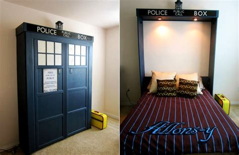 tardis couch diy tardis murphy bed foldaway to increase space in a