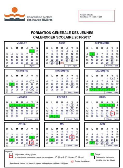 Calendrier ã E 2016 2017 201 Cole Lucien Calendrier Scolaire 2016 2017