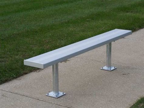 aluminum bench seating surface mount aluminum bench
