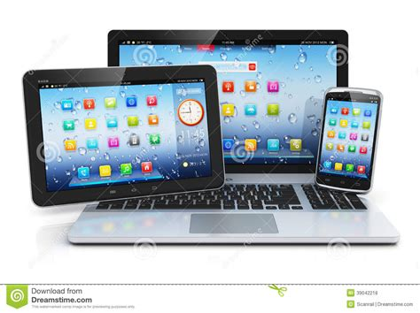 mobile tablet pc laptop tablet pc and smartphone stock illustration