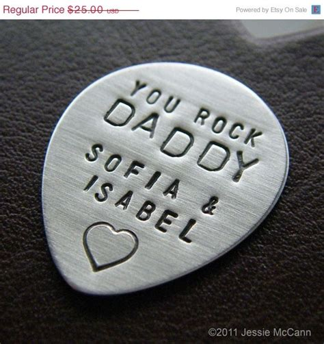 Fathers Day Tb Picks by Custom Guitar Personalized Sted Sterling