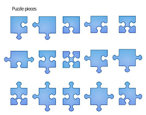 puzzle design elements vector puzzles vector stencils library cloud clipart vector