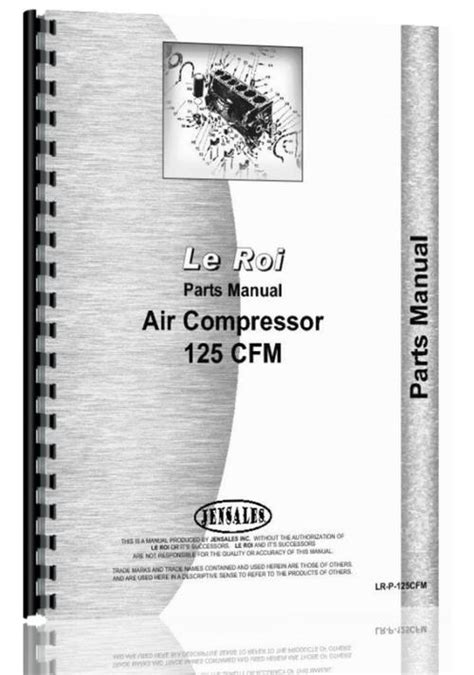 leroi  tract air tractor air compressor parts manual