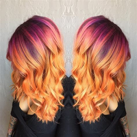 sunset colored hair best 25 sunset hair ideas on ombre hair