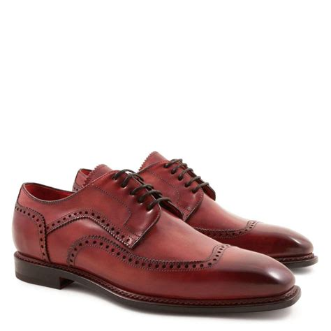 Handmade Mens Shoes - handmade s derby plain cap wingtip toe shoes