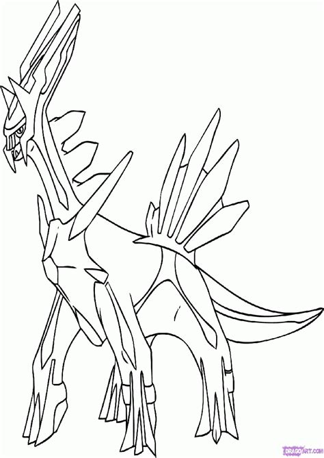 dialga coloring page coloring home