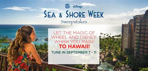 Disney Hawaii Sweepstakes - watch wheel of fortune for your chance to win