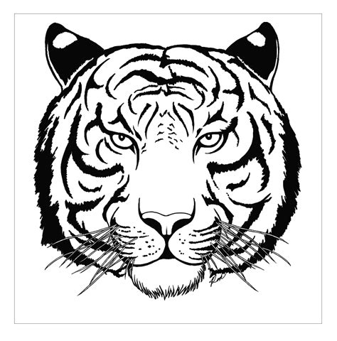 coloring pages of tiger face roaring tiger face coloring pages