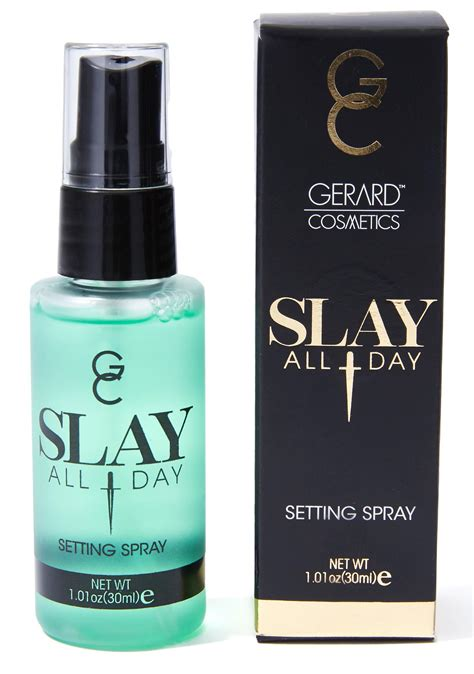 Gerard Slay All Day Setting Spray gerard cosmetics cucumber slay all day setting spray dolls kill