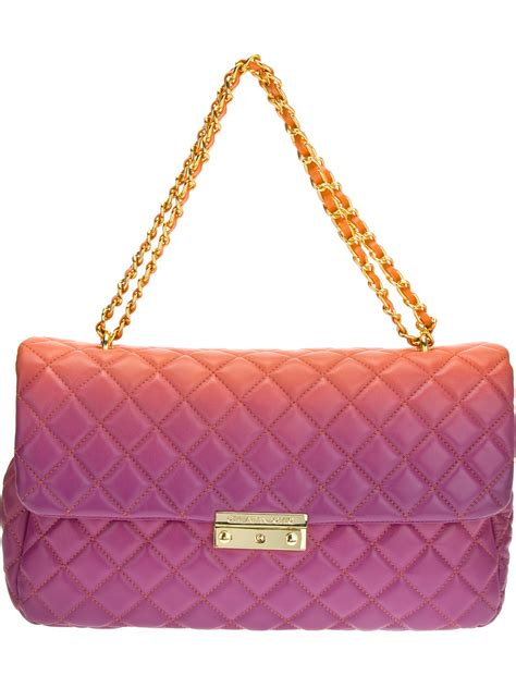 Cheap Quilted Bags by Moschino Cheap Chic Quilted Bicolour Shoulder Bag In