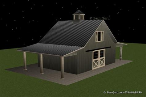 stall horse barn plan  loft barn builder  north ga