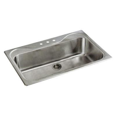 Sterling Kitchen Sink Sterling Southhaven Drop In Stainless Steel 33 In 3 Single Bowl Kitchen Sink 37047 3 Na
