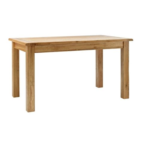 rustic oak dining table from hshire furniture budget