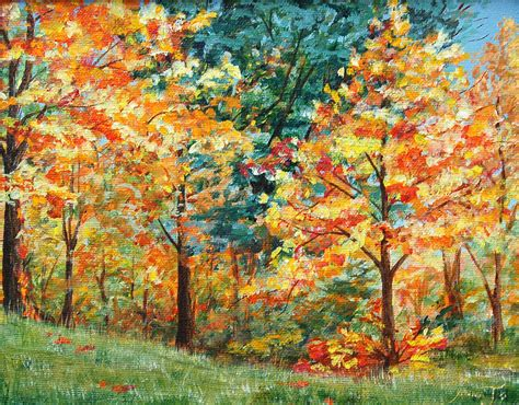 fall foliage painting by annajo vahle