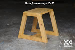 sturdy utility step stool made from one 2x4