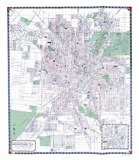 Bow Windows Bookshop 28 san antonio texas map vintage old map of san