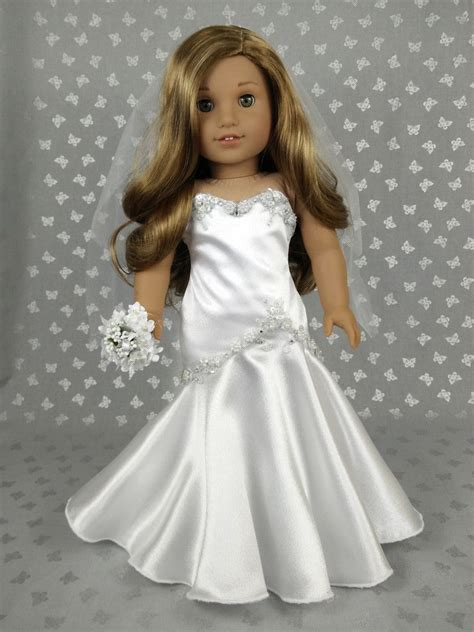 Pretty Doll Dress beautiful wedding dress for american doll 02