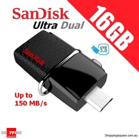 Usb Otg Dual Drive sandisk 16gb ultra dual otg usb drive 3 0 sddd2 shopping shopping square au