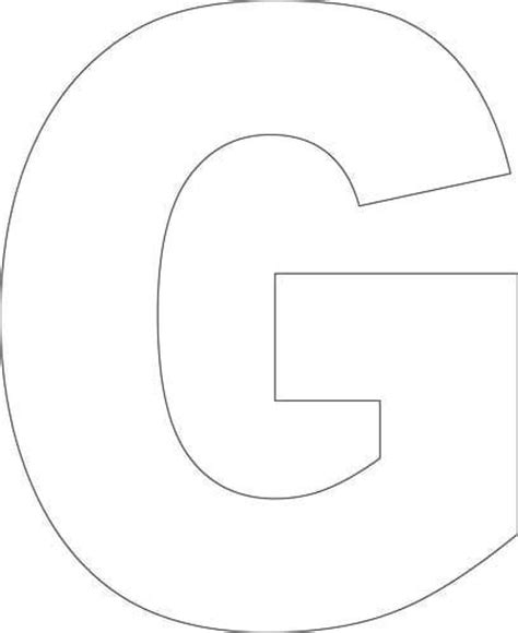 letter g template free printable g template school work free