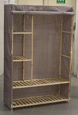 armoire en tissu but armoire armoire 110cm ca 06 en tissu gris kreabel