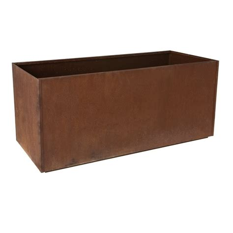 Metal Planters by Corten Steel Trough Planter Llc