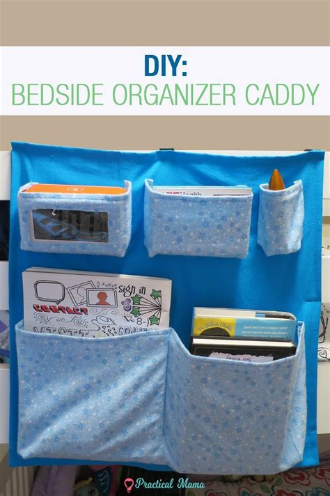 Hanging Bedside Organizer diy bedside organizer caddy with printable pattern