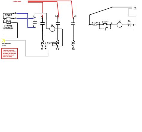 electrical contactor wiring diagram electrical free