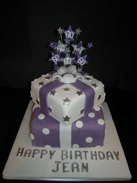 60th Birthday Cake by Eileen Atkinson S Celebration Cakes 60th Stacked Presents
