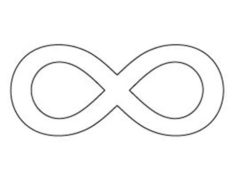 infinity symbol template infinity symbol pattern templates infinity