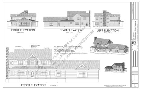 housing blueprints floor plans h212 country 2 story porch house plan blueprints construction drawings sds plans