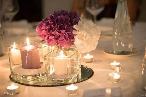 centrotavola per matrimonio con candele centrotavola con candele e ortensie fiori d arancio