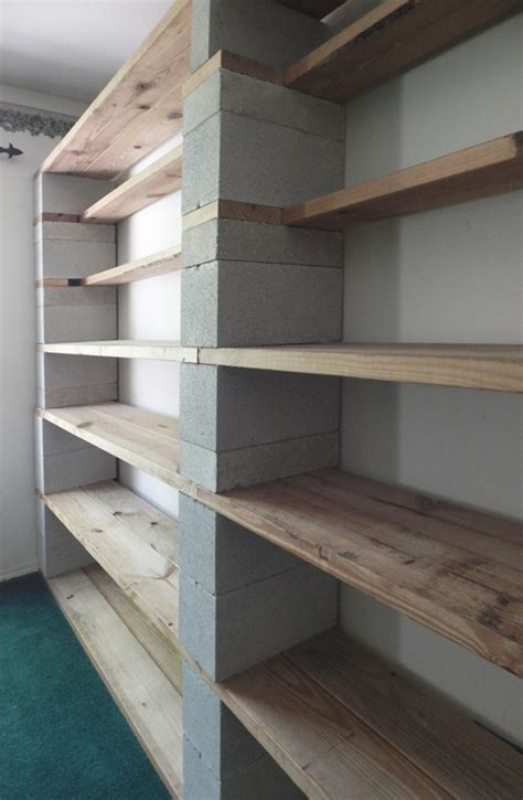 easy to build modernist cinder block bookshelves that
