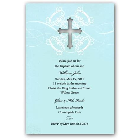 free printable invitation cards sles free print baptism invitation