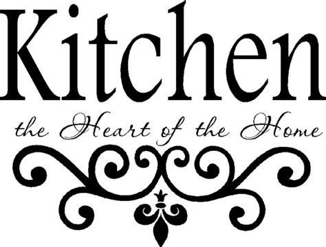 Kitchen Backsplash Decals kitchen wall quote vinyl decal lettering decor by