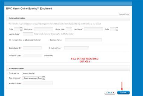 reset online banking password bmo bmo harris bank online banking login cc bank