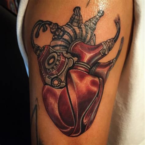 mechanical heart tattoo designs 75 best biomechanical designs meanings top of