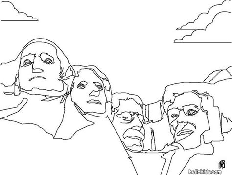 free coloring pages united states symbols mount rushmore coloring pages hellokids com