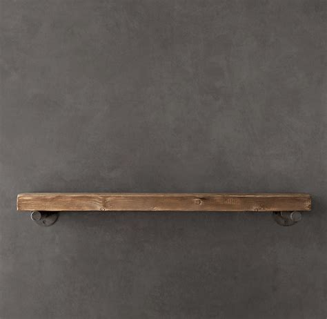 reclaimed wood wall shelf industrial display and wall
