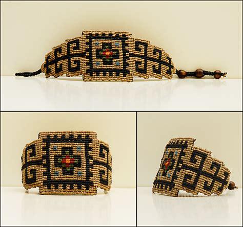 Handmade Bracelet Patterns - alangoo rug pattern handmade bracelet