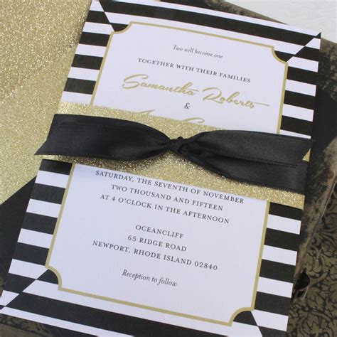 Wedding Invitations Black And Gold by Black And Gold Wedding Invitation