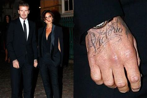 tattoo david beckham hand male celebrities with name tattoos