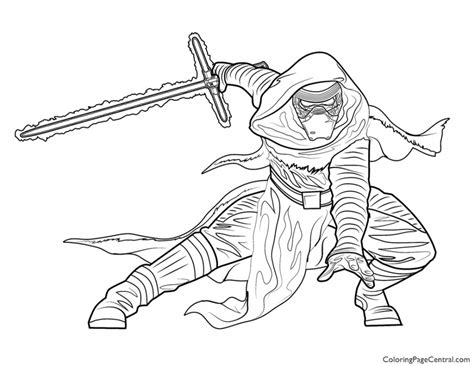coloring pages kylo ren star wars kylo ren coloring page coloring page central