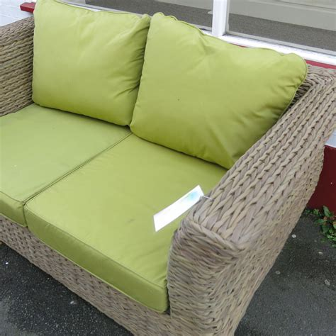 lime green sofa cushions ex display whitley 2 seater outdoor wicker sofa with lime