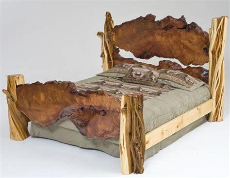 rustic log beds rustic log bed unique exotic wood juniper live edge