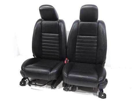 oem seat upholstery replacement replacement oem ford mustang gt black leather front seats