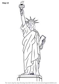 statue of liberty drawing template learn how to draw statue of liberty statues step by step