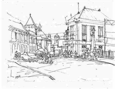 pameran sketsa kota lama semarang