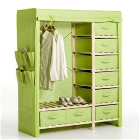 canvas and wood wardrobe china wooden clothes closet with cotton canvas cover