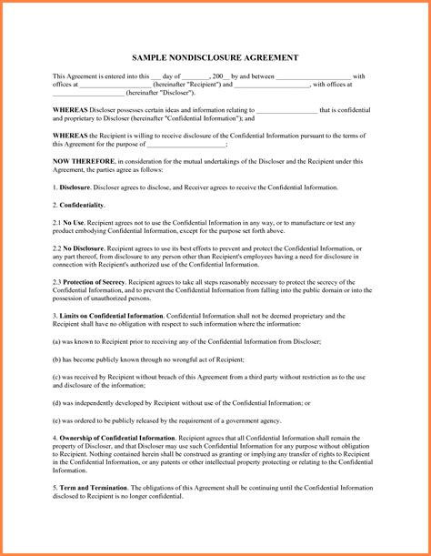 it confidentiality agreement template 7 non disclosure confidentiality agreement purchase